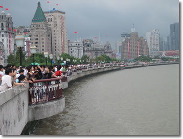 The Bund on Shanghai on National Day