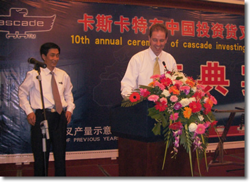 Scott Speaking in Hebei